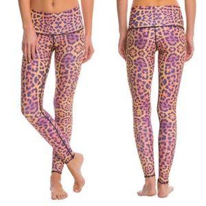 Teeki purple awakening leopard cheetah pants S